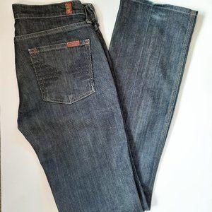 74AMK Dark Wash Boot Cut Jeans